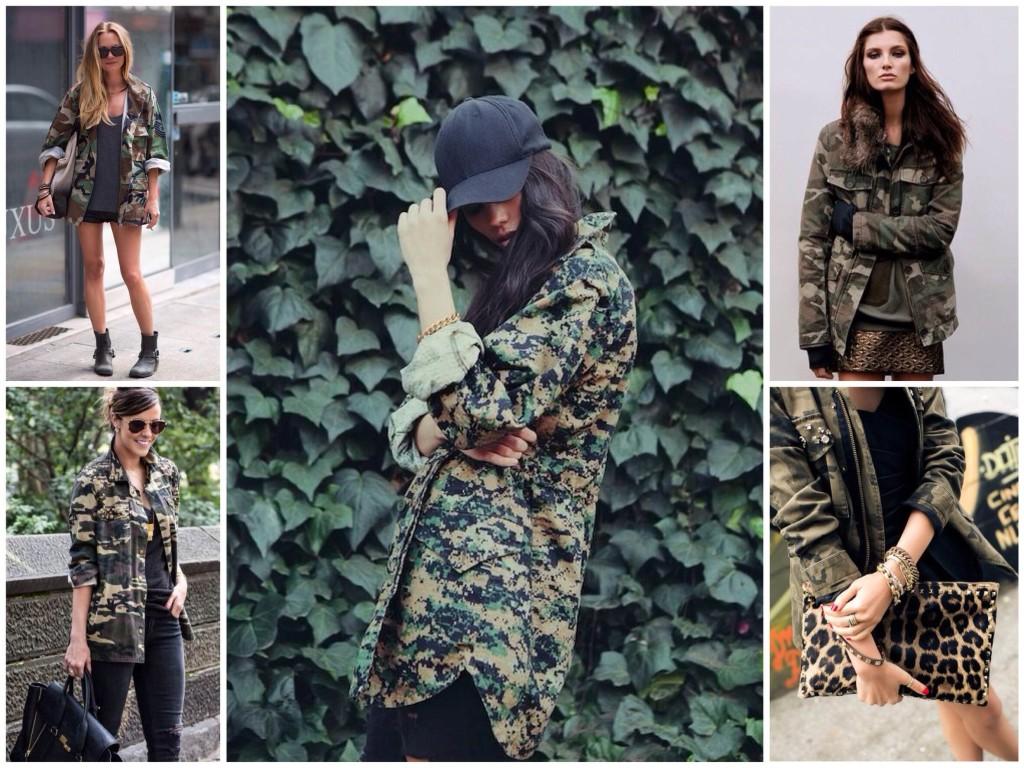 Модная одежда в стили милитари